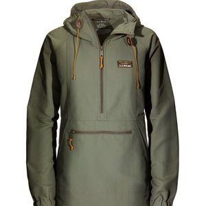 Women's LL Bean Half Zip Anorak Jacket